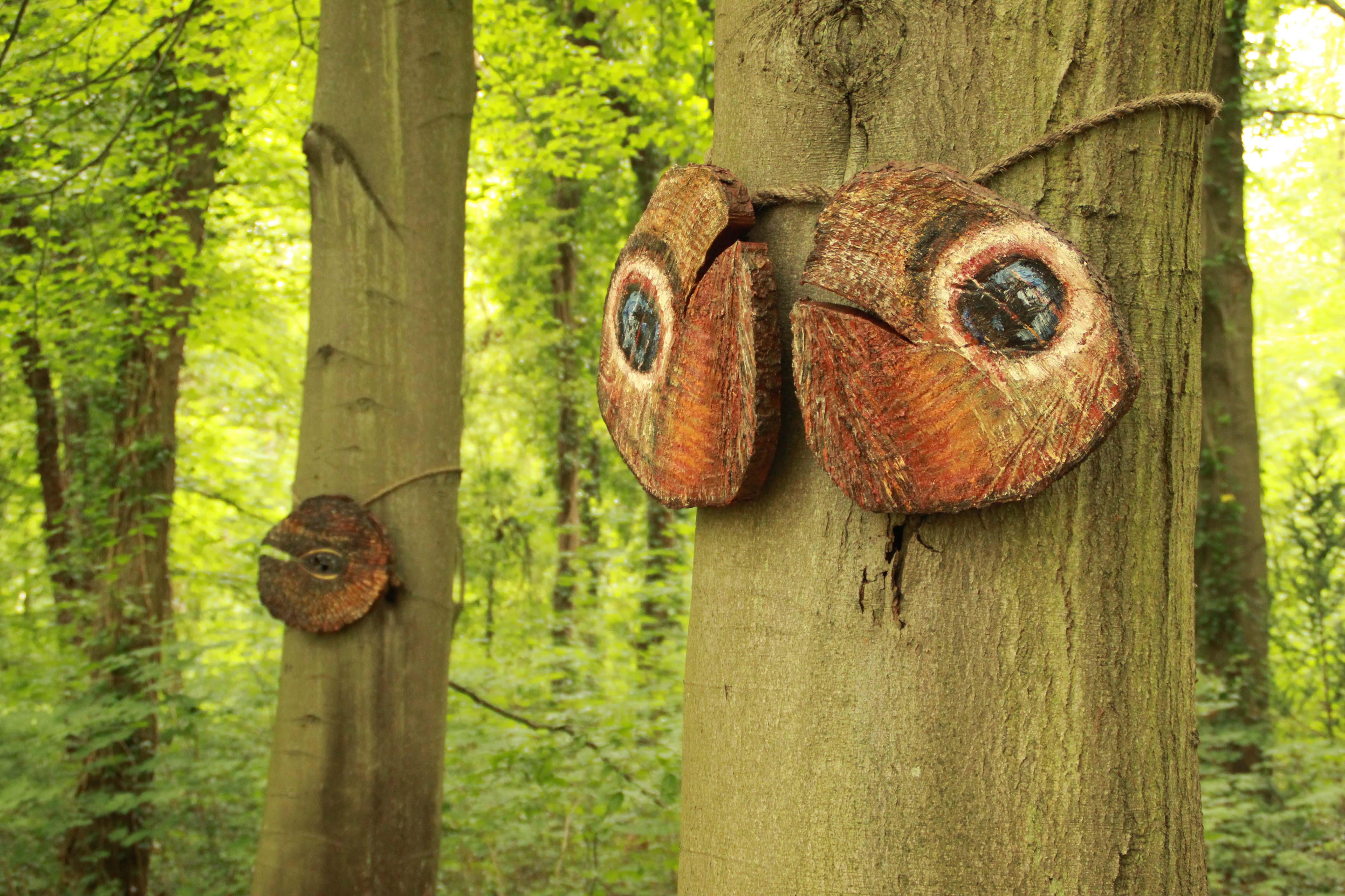 """Mireille Schermer: """"Ogenblik in het bos"""""""